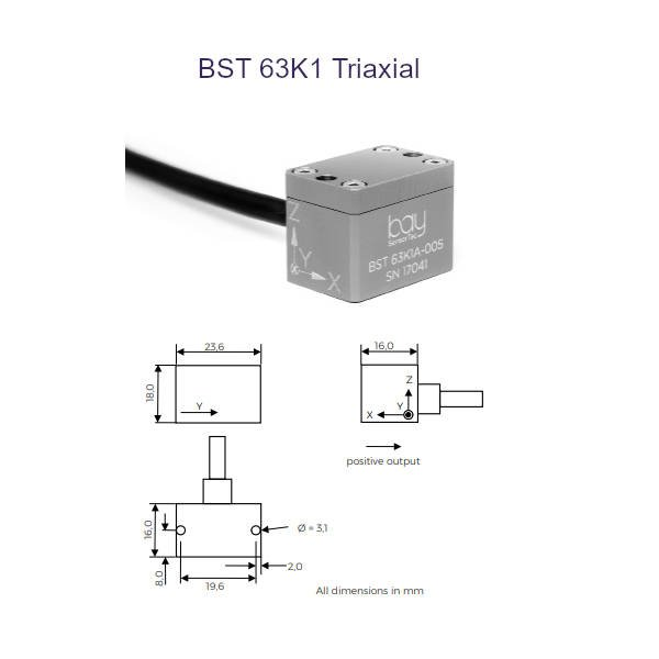 BST 63K1 Triaxial Bay SensorTec