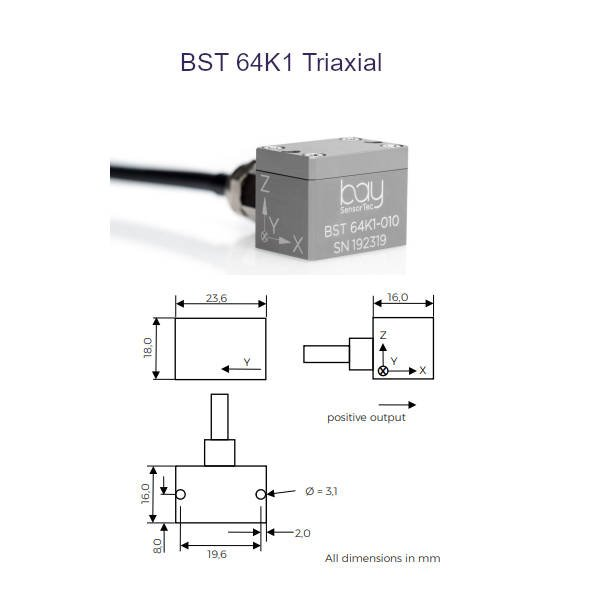 BST 64K1 Triaxial Bay SensorTec