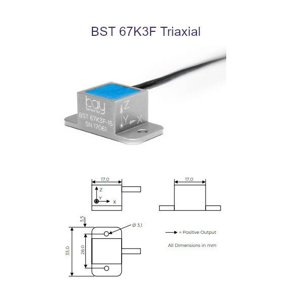 BST 67K3F Triaxial Bay SensorTec