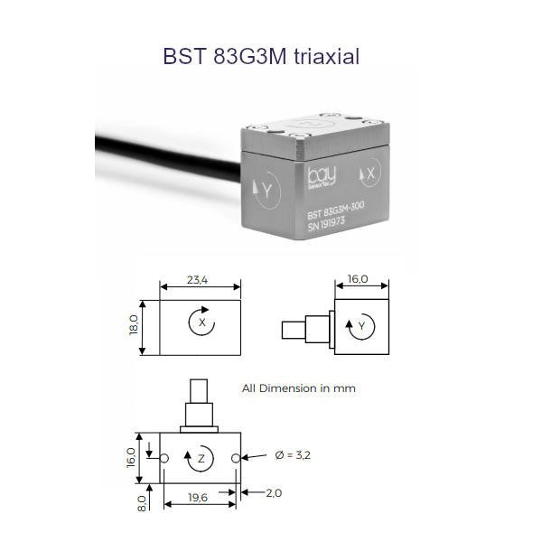 BST 83G3M triaxial Bay SensorTec